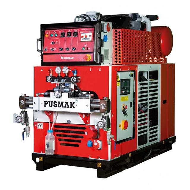 Автономная машина для напыления ППУ и Полимочевины Pusmak