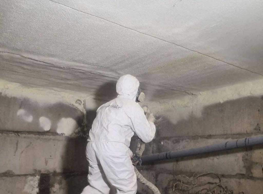 Потолок подвального помещения